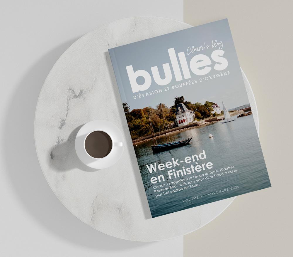 Claire's Blog : magazine Bulles sur un week end dans le Finistère avec une tasse de café
